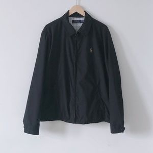 Polo Ralph Lauren Black Softshell Windbreaker Sz M